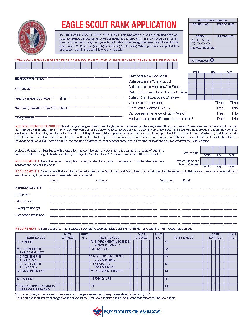 Worksheet Eagle Scout Worksheet eaglecoach org helping scouts earn eagle scout rankeaglecoach 2014 application single page copy