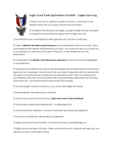 Eagle-Scout-Rank-Application-Checklist